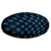 Checker Beads Oval 33x19mm Aqua/black